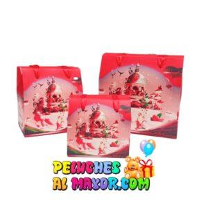 Caja Cofre Navidad Rojo Polo Norte x3und