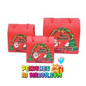 Caja Cofre Navidad Santa Rojo x3und