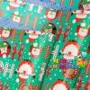 Papel Regalo Navidad Turquesa HO-HO-HO x20 Pliegos Doble Cara