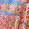 Papel Regalo Navidad Rayas Rojo x20 Pliegos Doble Cara