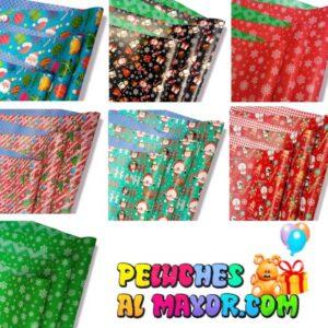 Papel de Regalo Navidad x50 Pliegos Variados Doble Cara